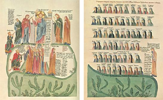 Fig. 1 i 2. Hortus deliciarum, Pl. 153 i Pl. 154