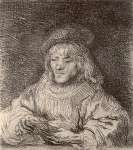 REMBRANDT. El jugador de cartes. 1641. Museu Diocesà de Barcelona