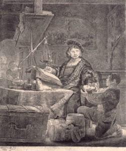REMBRANDT. El pesador d'or. 1639. Museu Diocesà de Barcelona