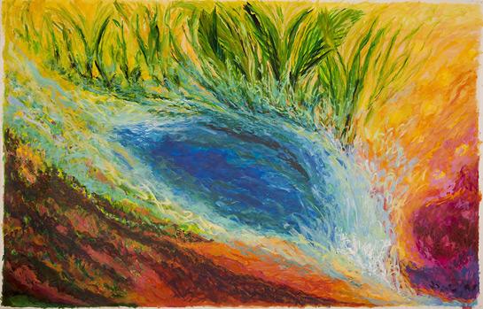 ©Miriam Subirana. Esclat de vida, acrilic sobre tela, 200 x 300 cm