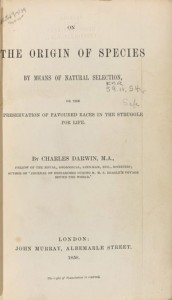 Title page from Charles Darwin's The Origin of Species published in 1869. © American Museum of Natural History, Department of Library Services.