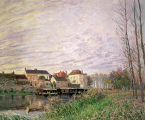 ALFRED SISLEY. Una tarda a Moret, finals d'octubre, 1888. Oli sobre tela. Col·lecció Carmen Thyssen-Bornemisza en dipòsit al Museo Thyssen-Bornemisza