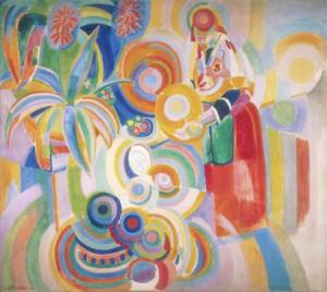 ROBERT DELAUNAY. Portuguesa (La gran Portuguesa), 1916. Oli i cera sobre tela. Col·lecció Carmen Thyssen-Bornemisza en dipòsit al Museo Thyssen-Bornemisza