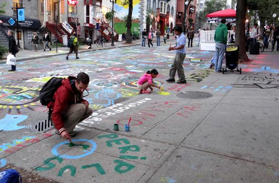 Fig. 1: Participació en una acció comunitària a Montreal