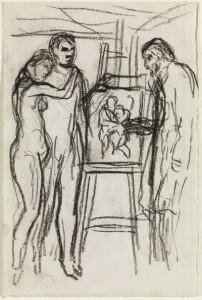 Estudi per a La Vida, 1903. © Successió Pablo Picasso, VEGAP, Madrid 2013.