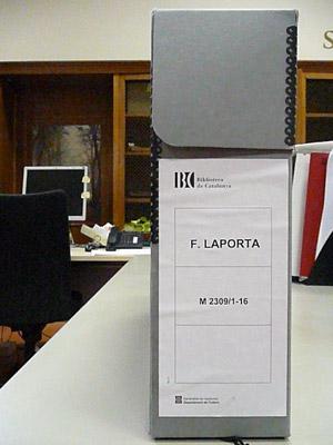 Un contenidor del fons Francesc Laporta