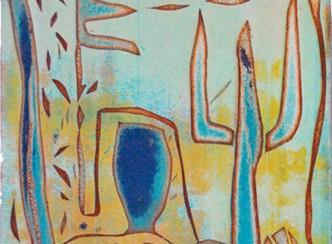 «Teulades» Aiguafort, tècnica viscositats, 1990 ©Maite Tarrés
