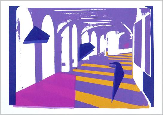 Serigrafia 5 colors, Calella de Palafrugell, 1988 ©Maite Tarrés