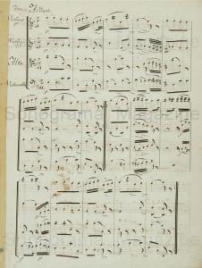 Arriaga. Tema variado en cuarteto. Manuscrito. Museo del Teatro de Almagro
