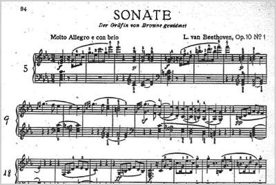 Sonata Op. 10 Nº1 en Do menor de L. van Beethoven