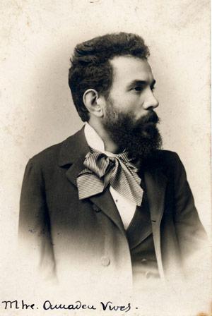 Retrat d'Amadeu Vives. Data:  ca.1900. Autor: Desconegut. CEDOC