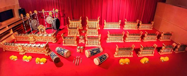 El gamelan gong kebyar del Museu de la Música de Barcelona ©Jordi Casadevall