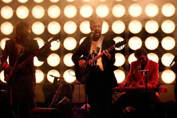 La Banda Cool de l'espectacle 'Home-natja' Òscar Muñoz, Carles Pedragosa i Jordi Santanach