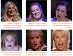 Expressió de les emocions mitjançant el gest facial en el cant