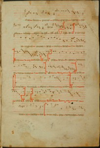 Manuscrit nº 1 , f. 1r. (fragment)