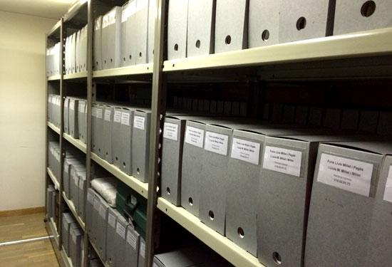 Detall de les instal·lacions d'arxiu