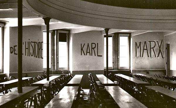 Graffito in University of Lyon, classroom during studentn revolt of 1968