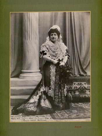 Reina de la Festa. Giulia  Novelli de Viñas. 1908. Autor: Pau Audouard. CEDOC