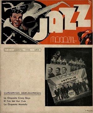 Font: Jazz Magazine. [Biblioteca de Catalunya. Barcelona] (Agosto 1935), núm. 1, portada.