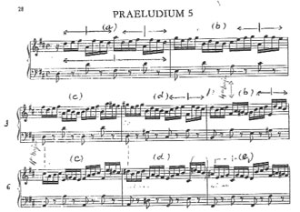 Preludi núm.5, en Re M, de J.S. Bach