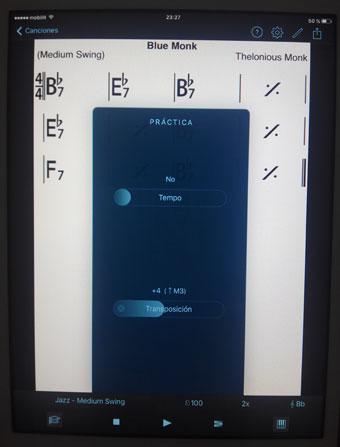 Imagen 4 Cambiar tempo y/o tonalidad (iOS)
